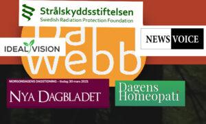 Dalwebb Nya dagbladet Strålskynddsstiftelsen Dagens homeopati